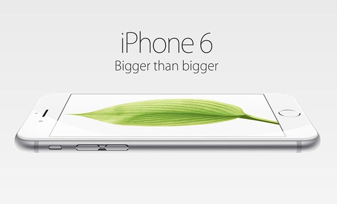 iPhone 6 Bigger than Bigger
