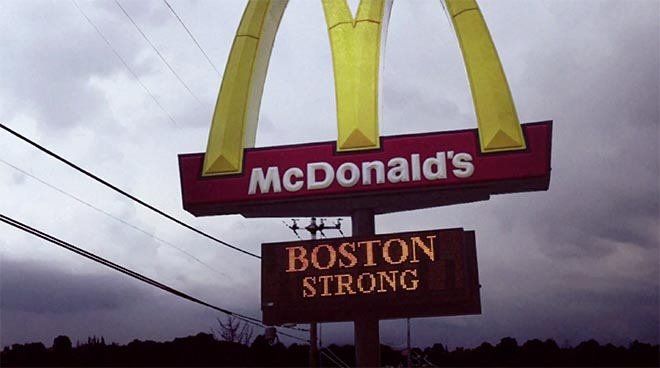 McDonald's sign - A little lovin' Boston Strong