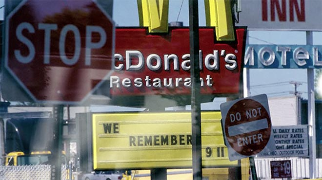 McDonald's sign - We Remember 911