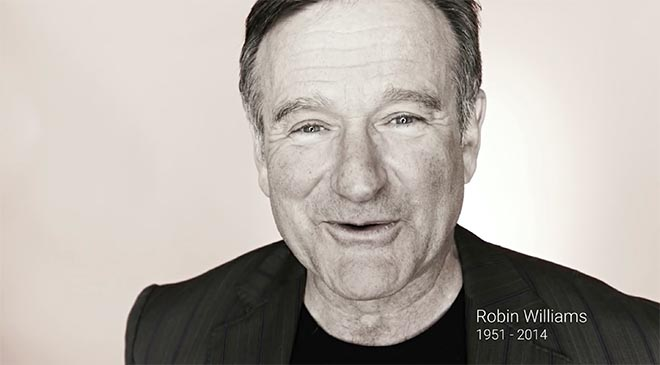 Robin Williams 1951 to 2014 - Google 2014