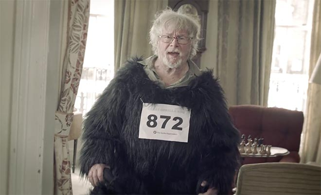 Bill Oddie in Gorilla Run suit