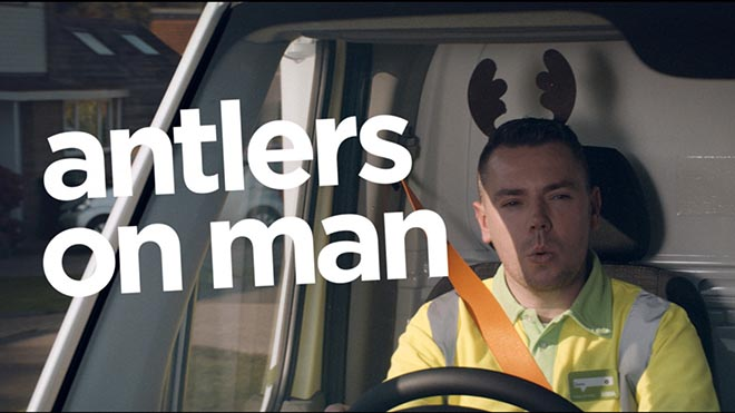 ASDA antlers on man