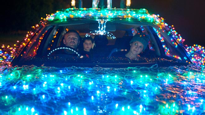 ASDA Christmas lights car