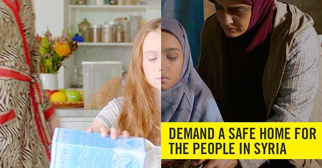 Amnesty Demand a Safe home for the people in Syria