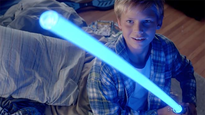 Duracell Star Wars boy with light sabre