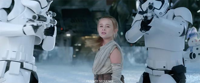 Duracell Star Wars girl with storm troopers