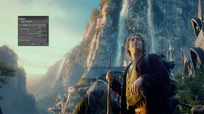 Adobe Dream On Photoshop commercial with The Hobbit