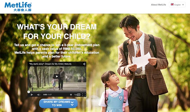 Metlife Dream For My Child site