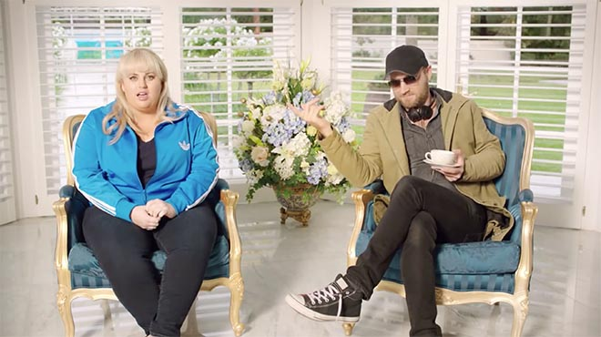 Rebel Wilson in Stan commercial with unicorn