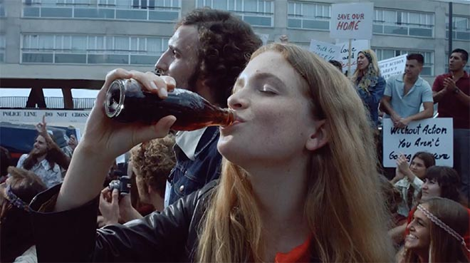 Coca Cola Kiss Protest