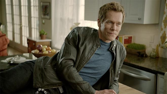 Kevin Bacon on kitchen counter