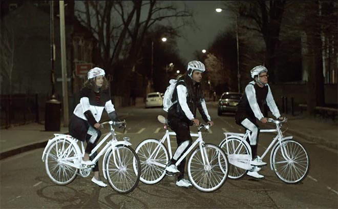 Volvo LifePaint cyclists