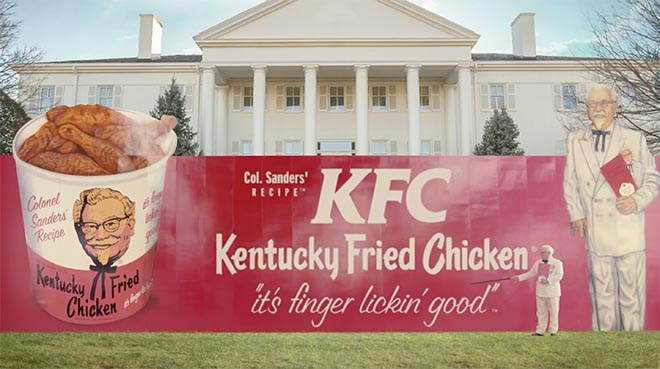 Funny Kentucky Fried Chicken: KFC Colonel Sanders Returns To America