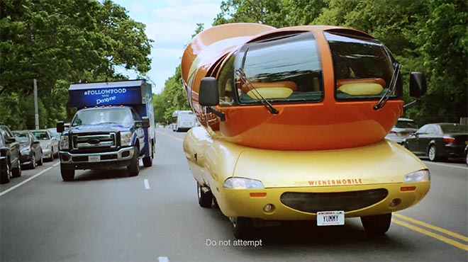 Dentyne Follow Food Truck and Wienermobile