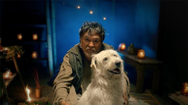 Man and Dog Photograph
