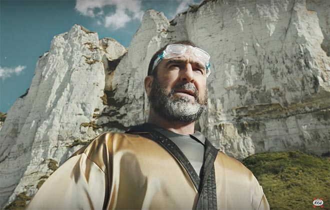 Eric Cantona swimmer in Kronenbourg LeBigSwim commercial
