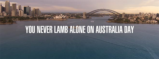 You never lamb alone on Australia day