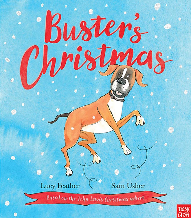 Buster's Christmas book from John Lewis Christmas 2016 commercial