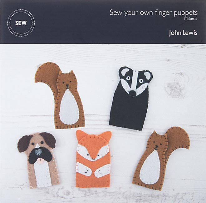 Buster The Boxer finger puppets in John Lewis Christmas 2016 commercial