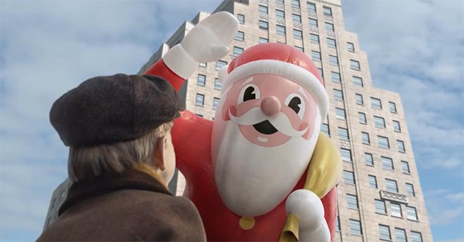 Macys Old Friends commercial featuring a boy and Santa