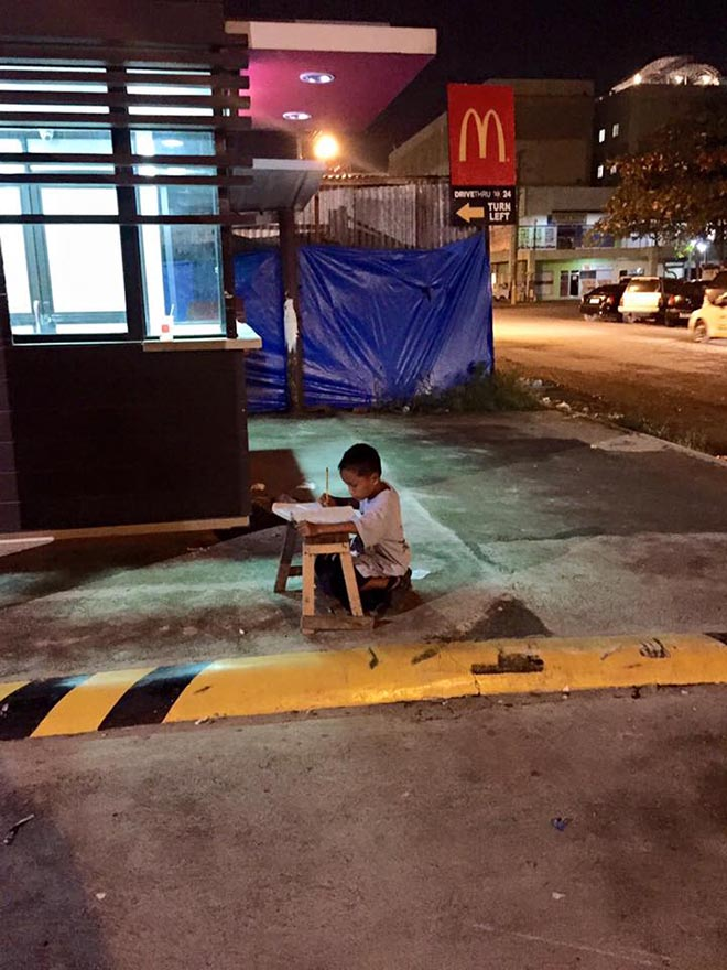 I got inspired by a kid - Daniel Cabrera photo by Joyce Torrefranca - Boy who loved to study