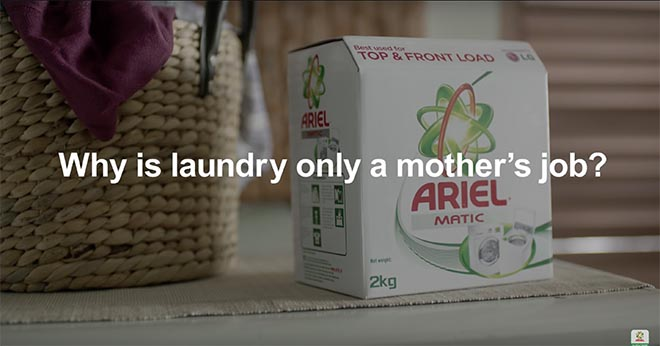 Why is laundry only a mother's job?