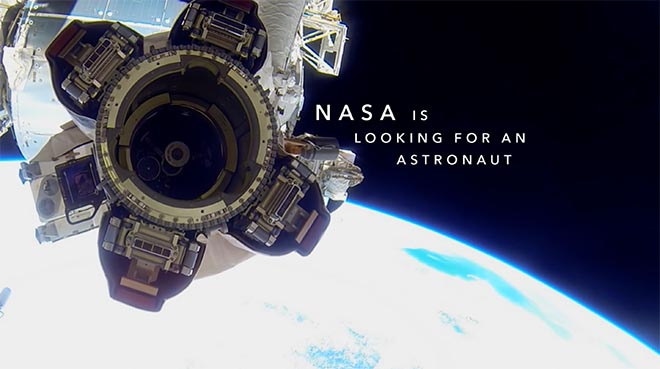 NASA is looking for an astronaut in Linkedin Closer Than You Think commercial