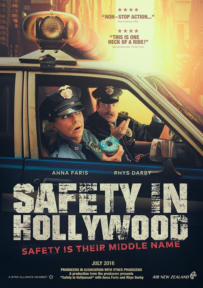 Air New Zealand Safety in Hollywood Poster