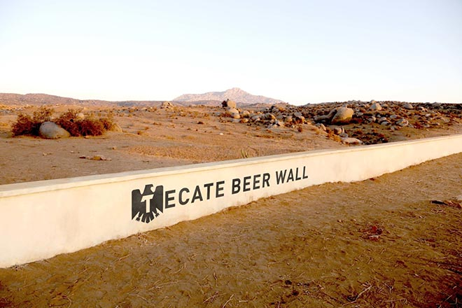 Tecate Beer Wall