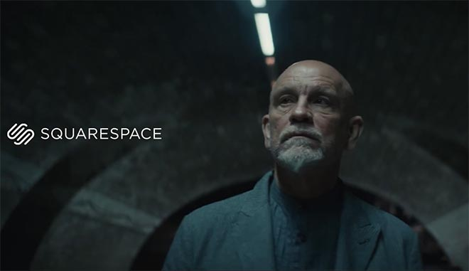 John Malkovich Fashion Squarespace commercial