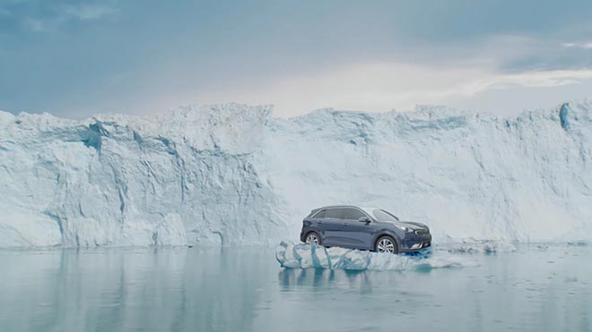 Kia Niro on iceberg
