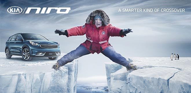 Kia Niro Melissa McCarthy on ice caps