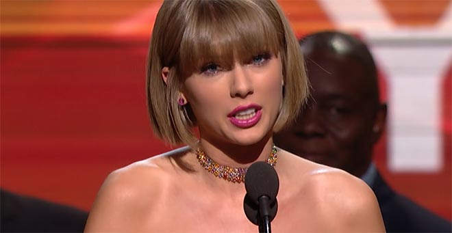 Taylor Swift Grammys acceptance speech