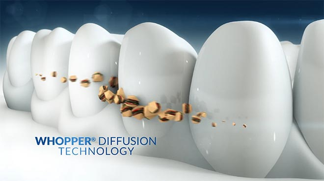 Whopper Toothpaste Diffusion Technology