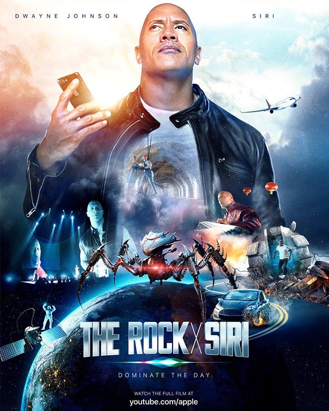 The Rock x Siri poster