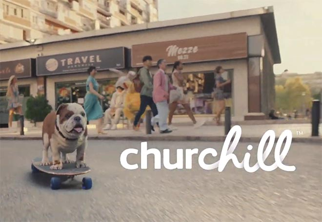 Churchill Chill commercial