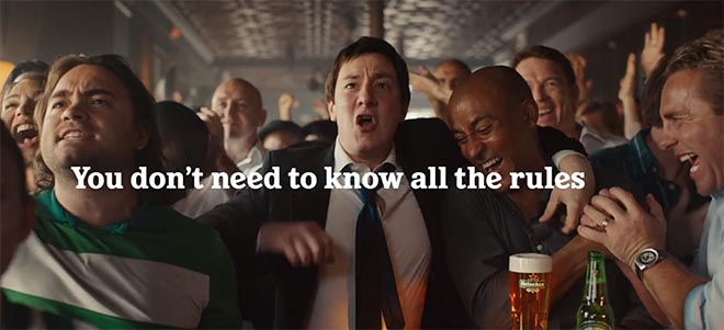 Heineken Rugby World Cup Delayed Reaction commercial