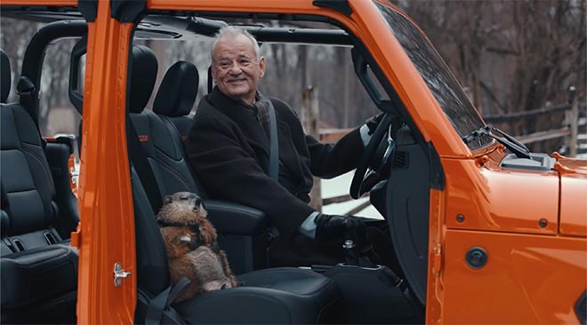Bill Murray as Phil Connor in Jeep Groundhog Day commercial