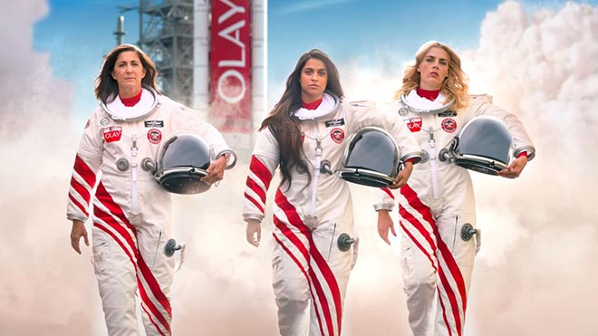 Astronauts in Olay Make Space for Women commercial