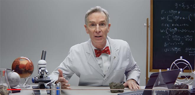 Bill Nye in Sodastream Mars water commercial
