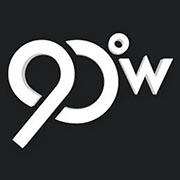 90 Degrees West logo