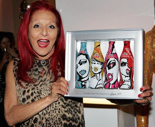 Patricia Field and Diet Coke Bottles