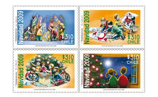 Chile Christmas Stamps 2009