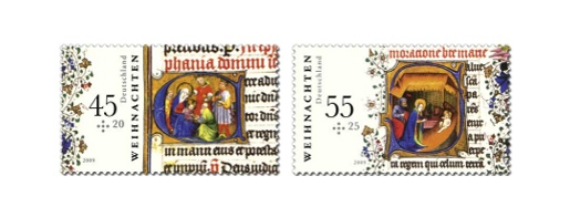 Germany Christmas Stamps 2009