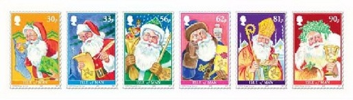 Isle of Man Christmas Stamps 2009