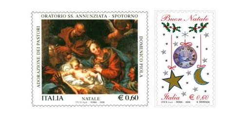 Italy Christmas Stamps 2009