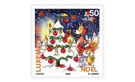 Luxembourg Christmas Stamp 2009