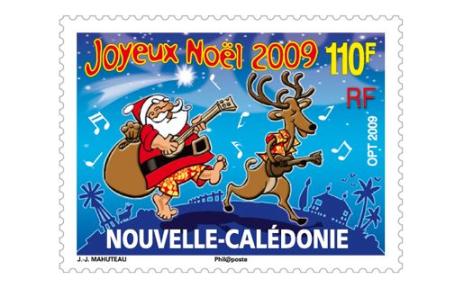 New Caledonia Christmas Stamp 2009