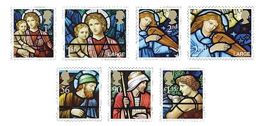 UK Royal Mail Christmas Stamps 2009