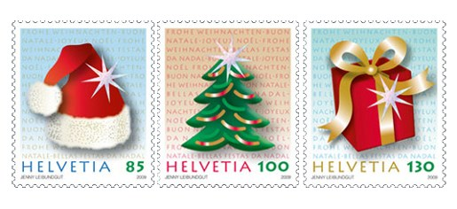Switzerland Christmas Stamps 2009